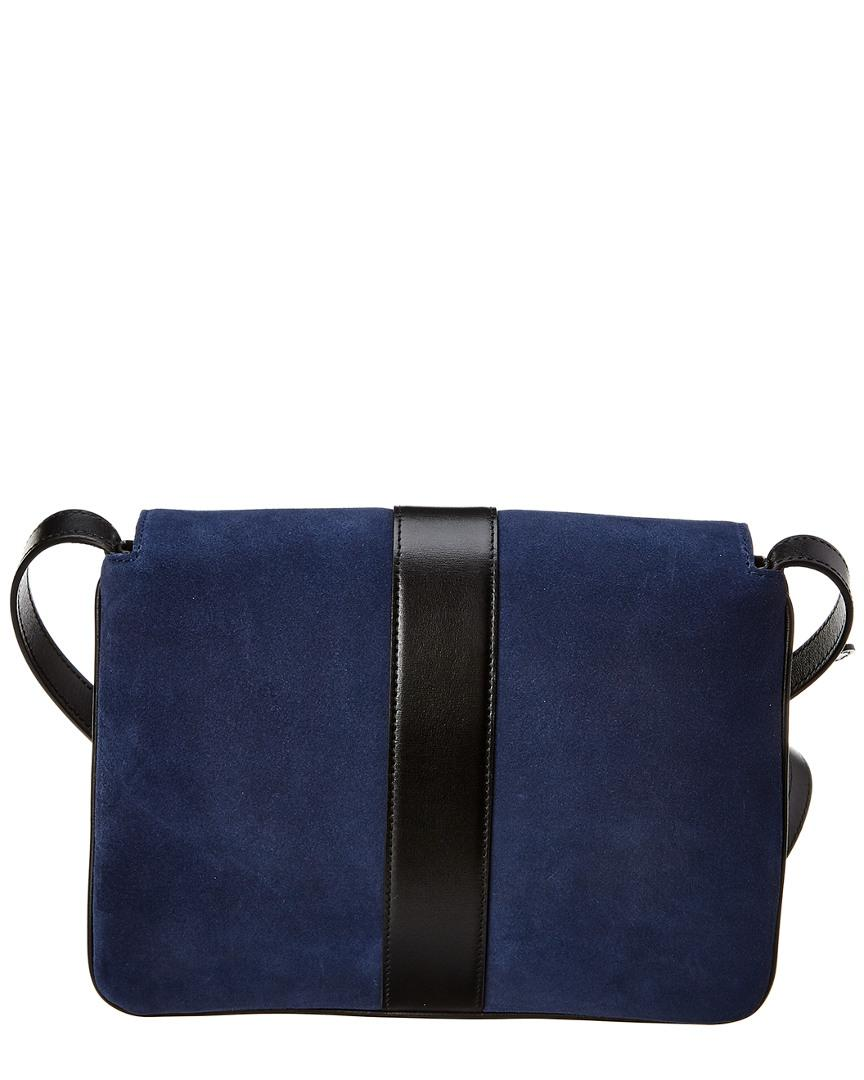 3a5c34d1bcd Lyst - Gucci Aril Medium Suede   Leather Shoulder Bag in Blue - Save 2%