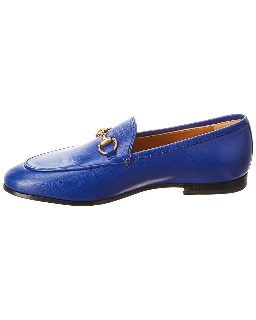 6cfe29c95e2 Lyst - Gucci Jordaan Leather Loafer in Blue - Save 12%