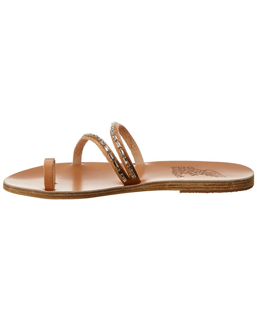 89a6a3939 Ancient Greek Sandals Sandals Apli Katia Diamonds Leather Sandal in Brown -  Lyst