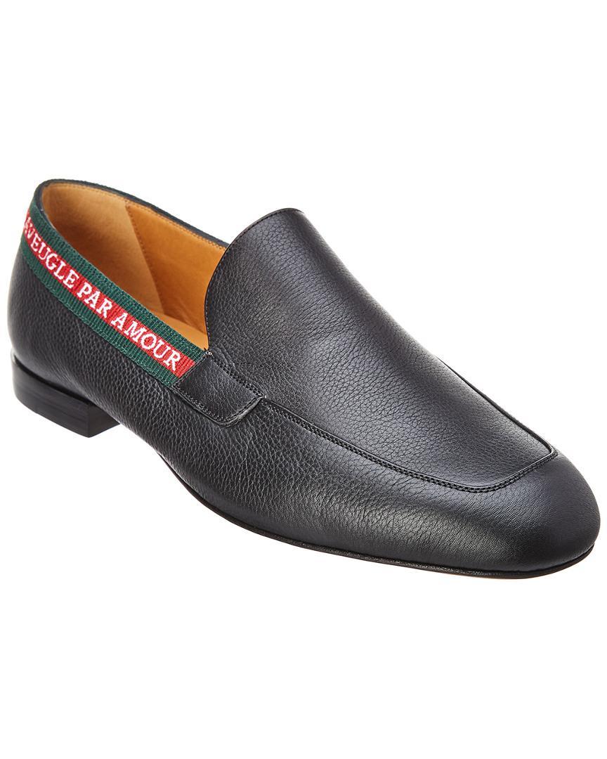 7916d47c76c74 Gucci L aveugle Par Amour Leather Loafer in Black for Men - Save ...