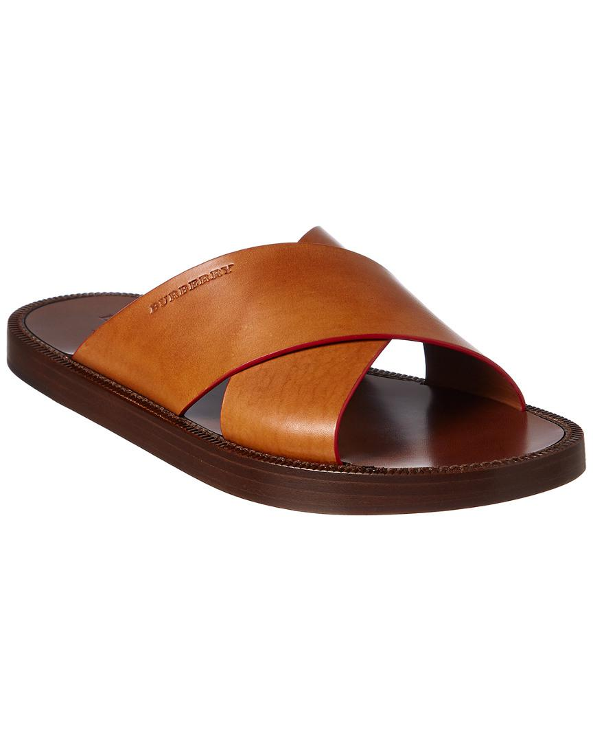 contrast detail leather sandals - Brown Burberry MUvhP