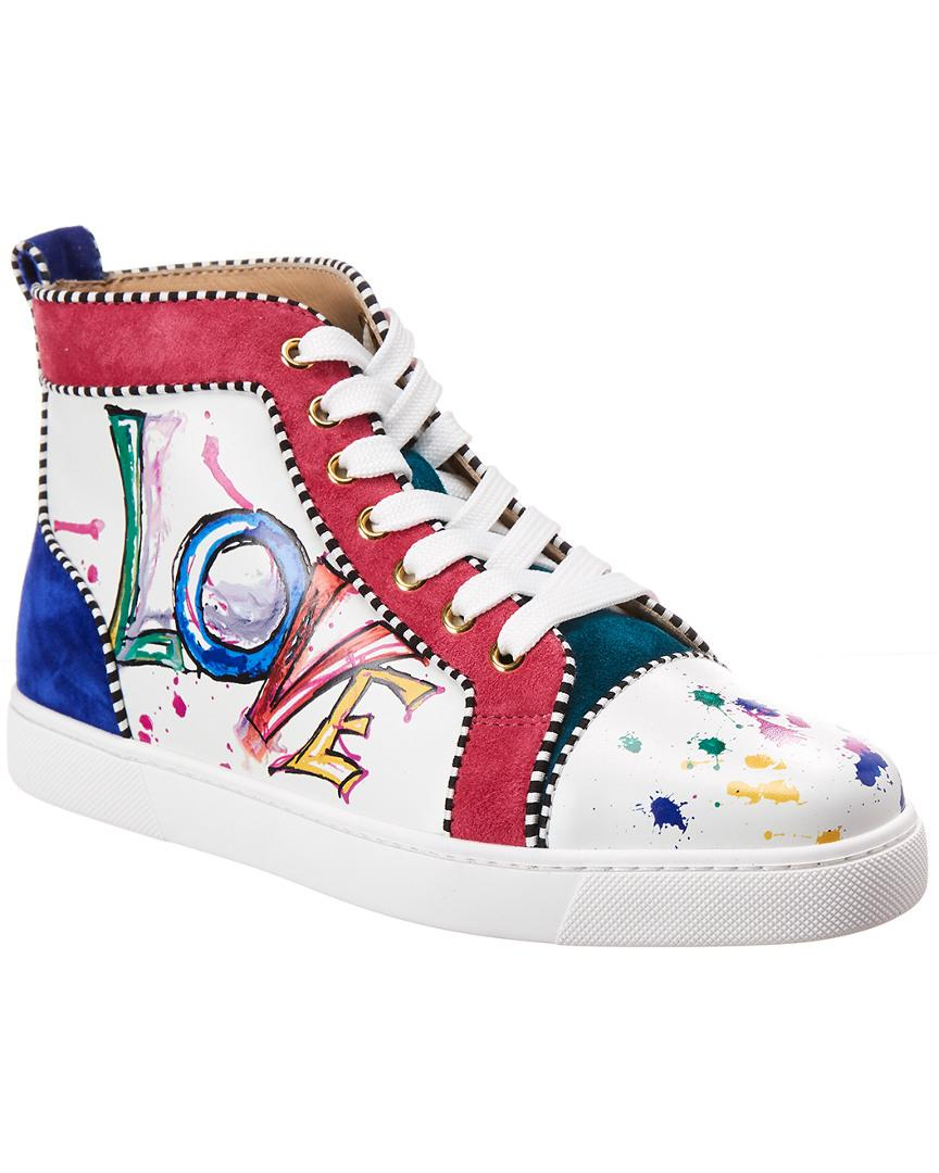 1e121b0418e Lyst - Christian Louboutin Orlato Leather Love High Top Trainers in ...