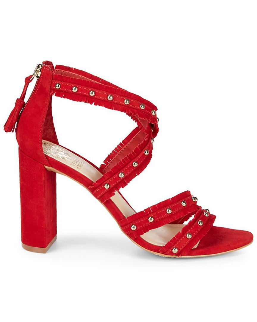33e2ee599ab Lyst - Vince Camuto Machila Suede Block Heel in Red - Save 62%
