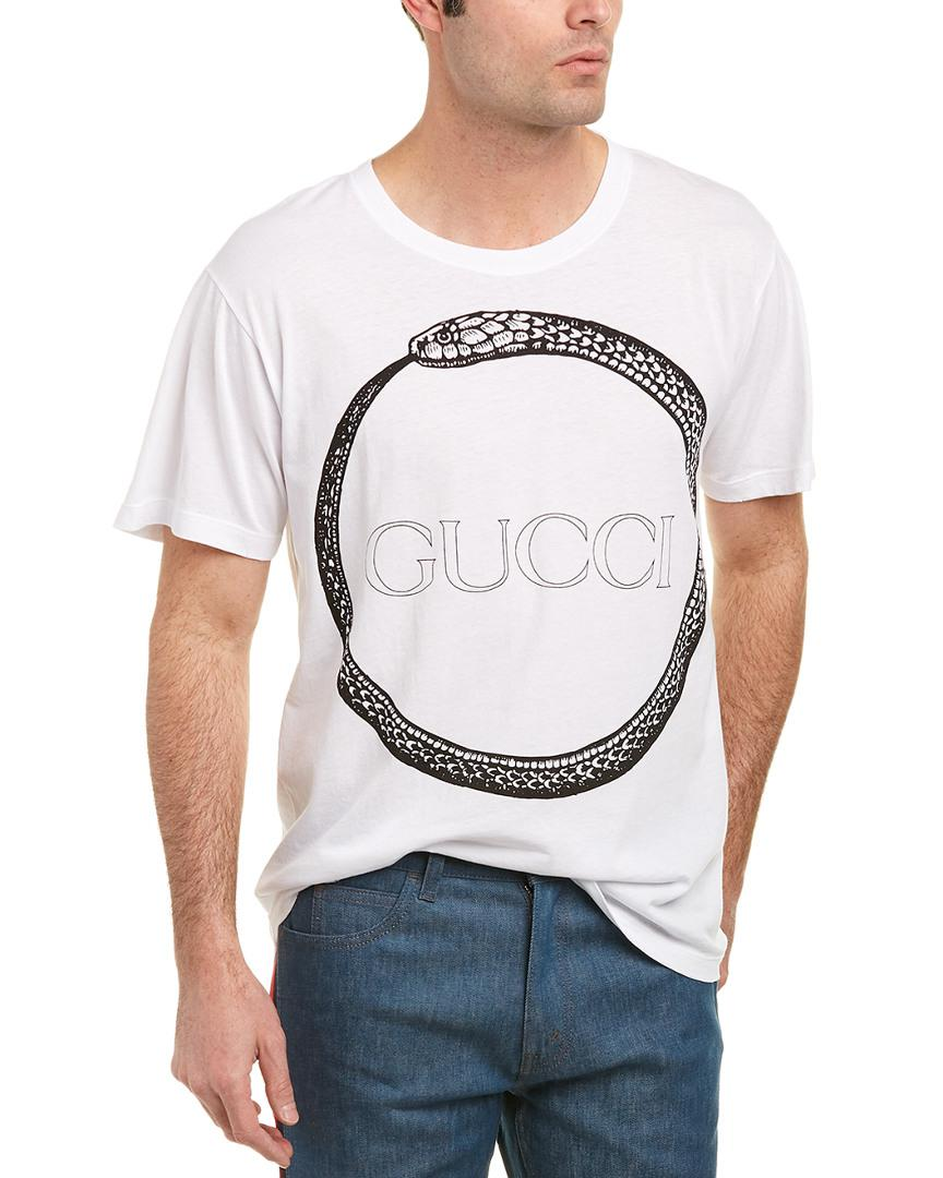 be88e8c0221 Lyst - Gucci Ouroboros T-shirt in White for Men