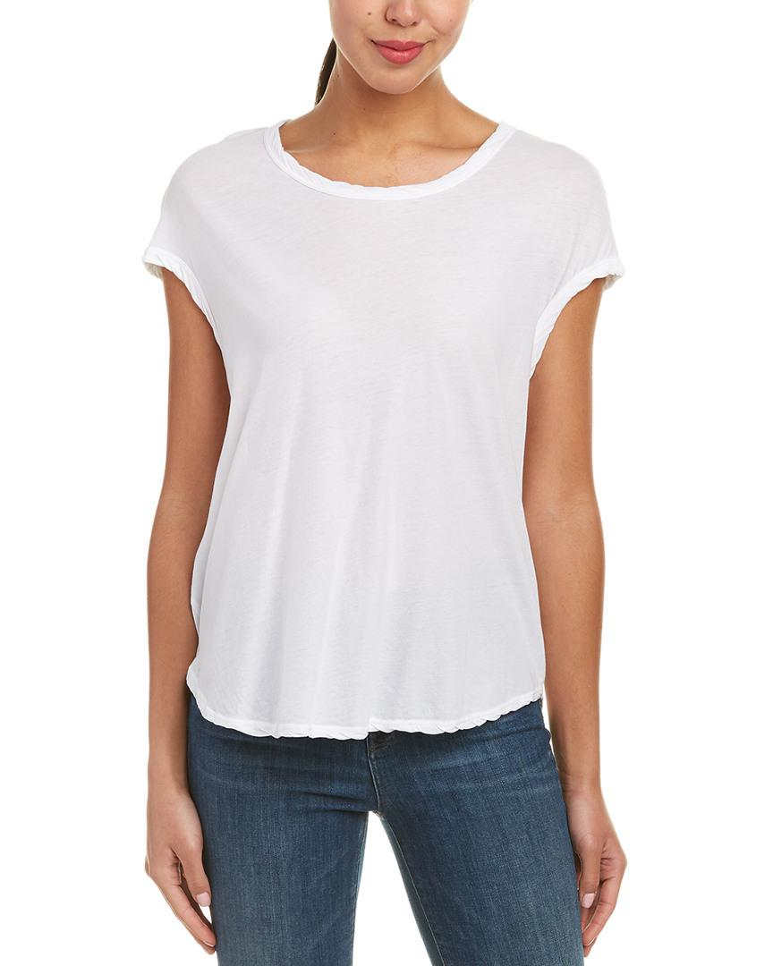 39e84dbcac James Perse Circular Shell Top in White - Lyst