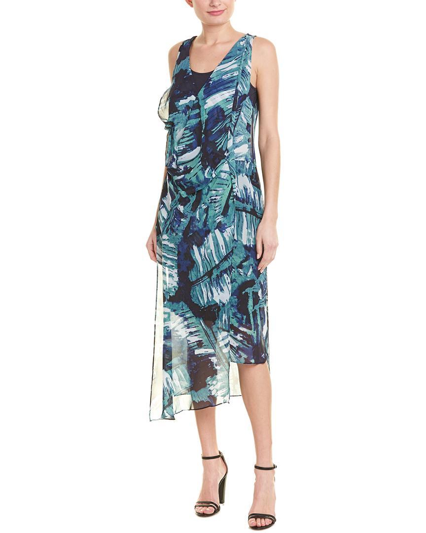 74f636540e7 Lyst - NIC+ZOE Leaf An Impression Dress in Blue - Save 46%