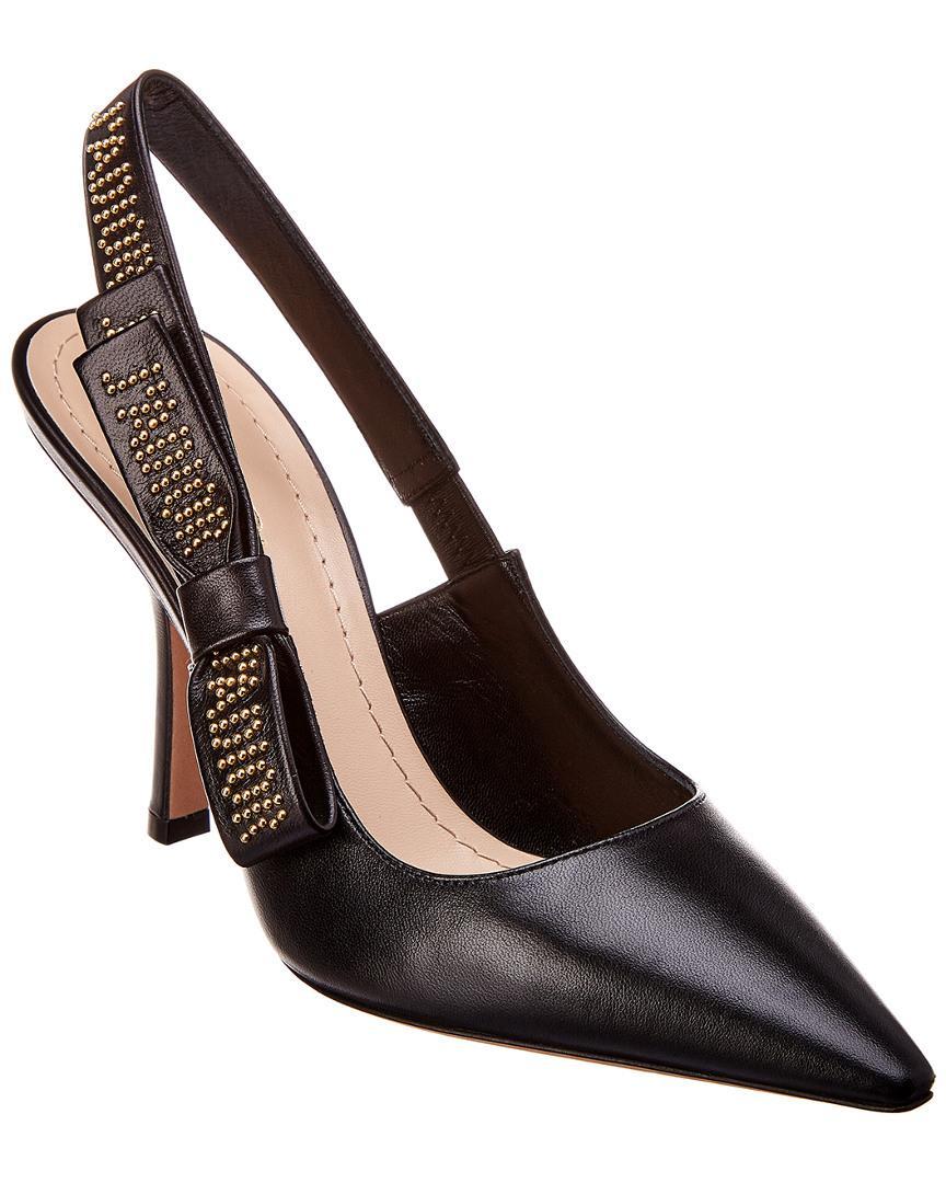 97e5a6c6594 Lyst - Dior Leather Pump in Black
