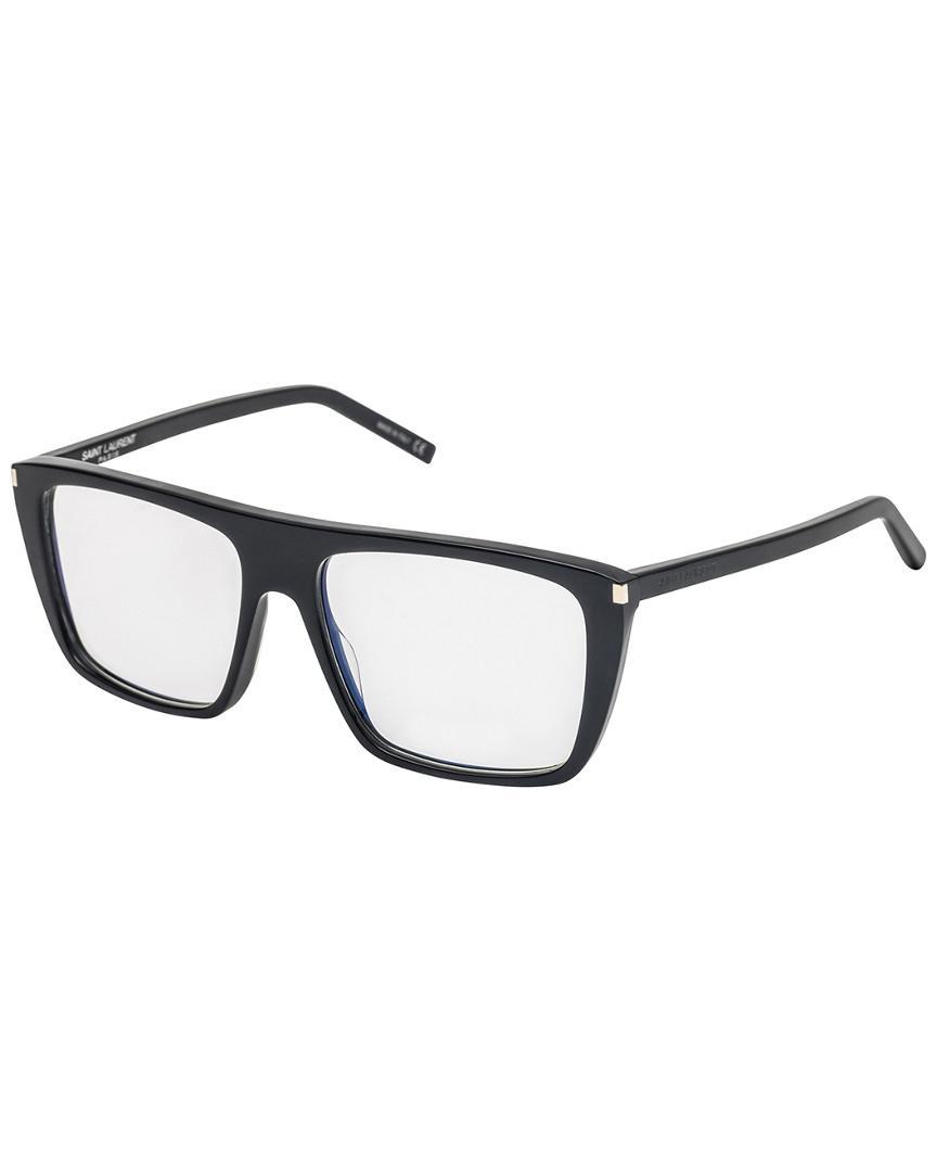 05663d6804 Lyst - Saint Laurent Ysl Unisex 56mm Optical Frames in Black