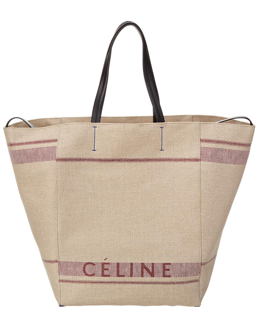 Lyst - Céline Céline Large Cabas Phantom Canvas Tote in Purple 8029615621961