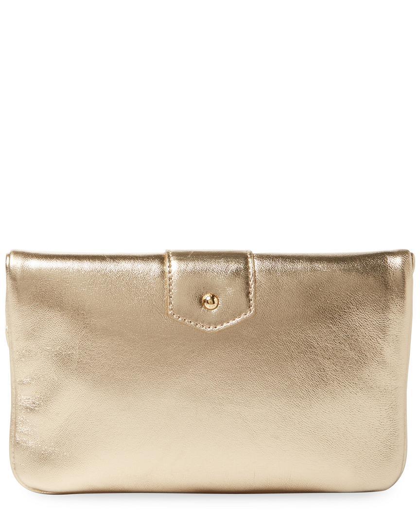 a40de709cf08 Lyst - Louis Vuitton Gold Metallic Leather Sofia Coppola Slim Clutch Mm in  Metallic
