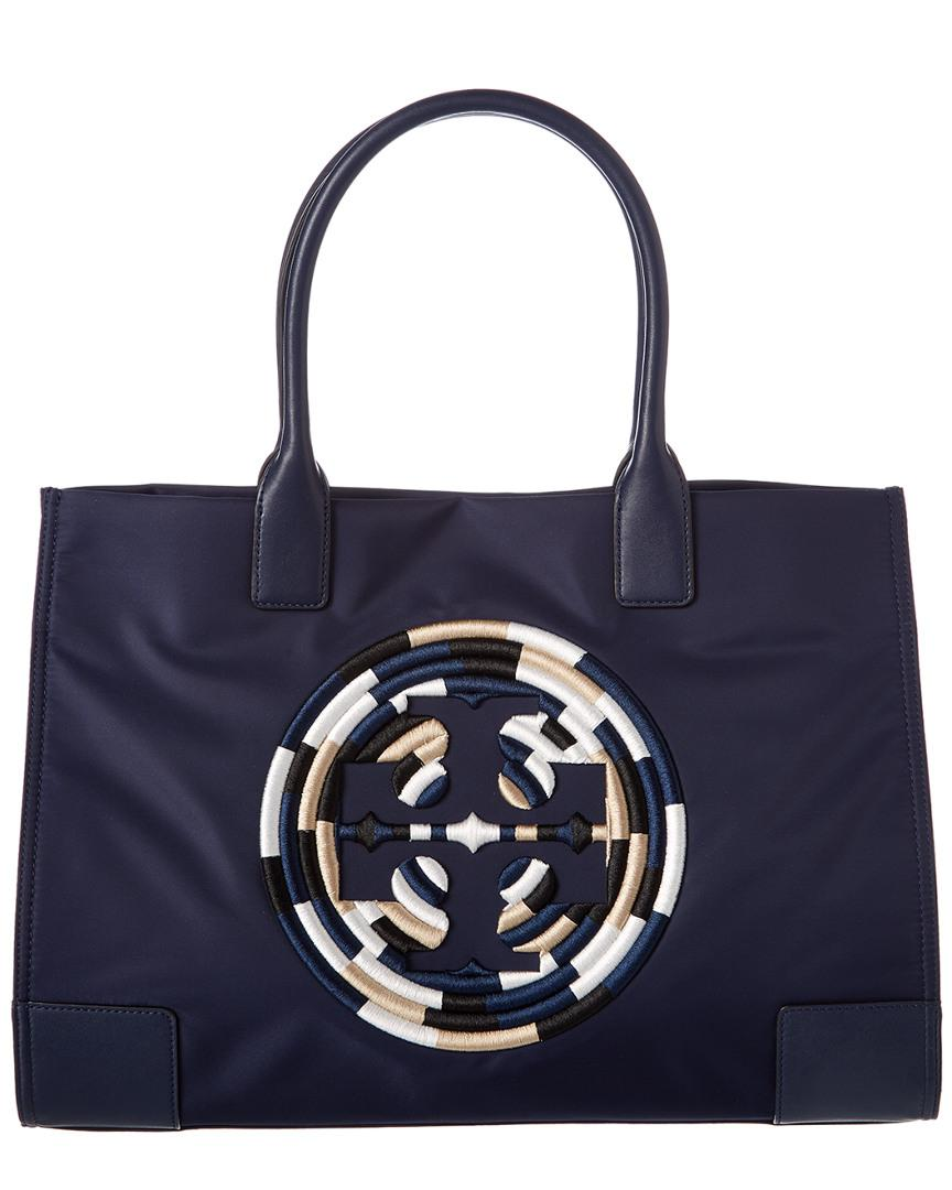 c88f21e7237 Tory Burch Ella Embroidered Tote in Blue - Lyst