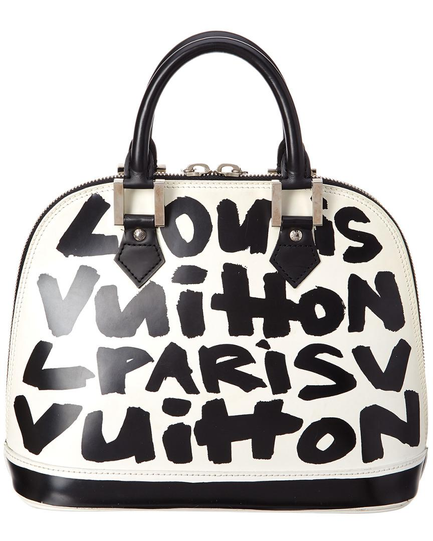 Lyst - Louis Vuitton Limited Edition Stephen Sprouse Black   White ... 1db3d9462f130