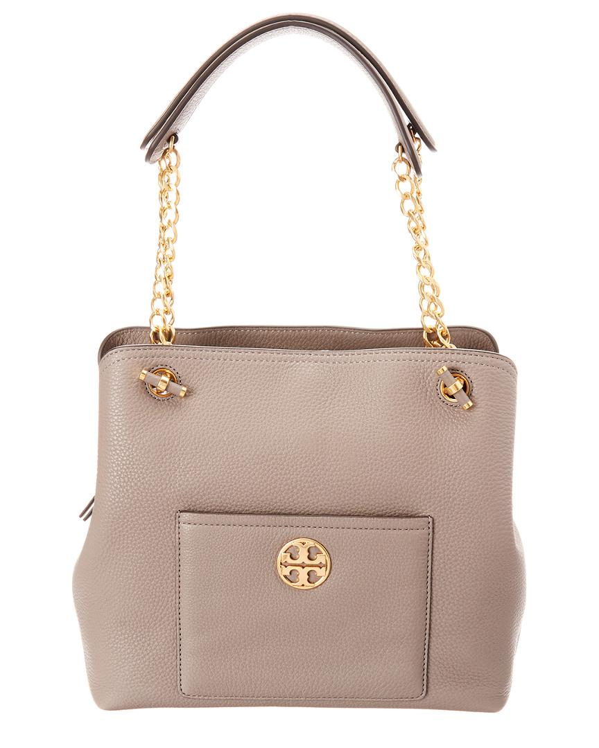 2547208f12 Tory Burch Chelsea Small Slouchy Leather Tote in Gray - Lyst