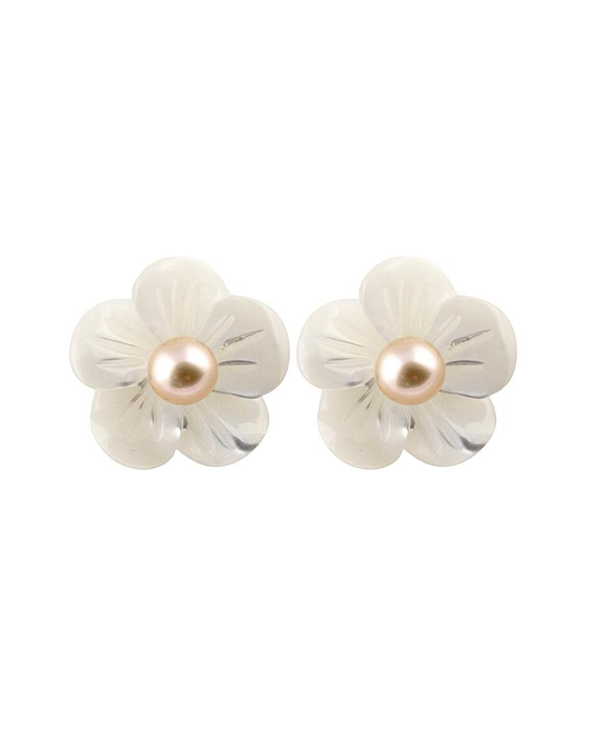 strand stud earrings tiny eclipse and pearl products stone