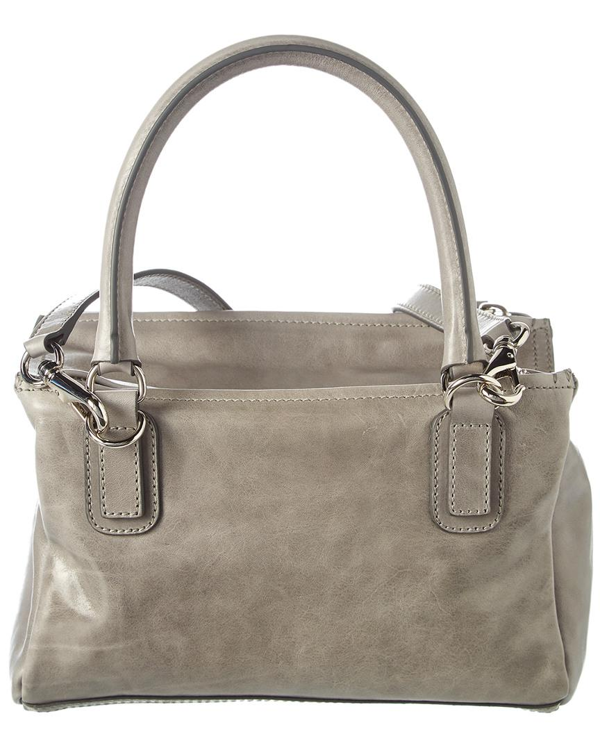 1119e3cce2ed Lyst - Givenchy Small Pandora Leather Shoulder Bag in Gray