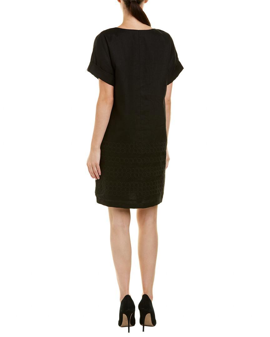 e65a4e54d7 Lafayette 148 New York. Women s Black Petite Fabian Linen Shift Dress