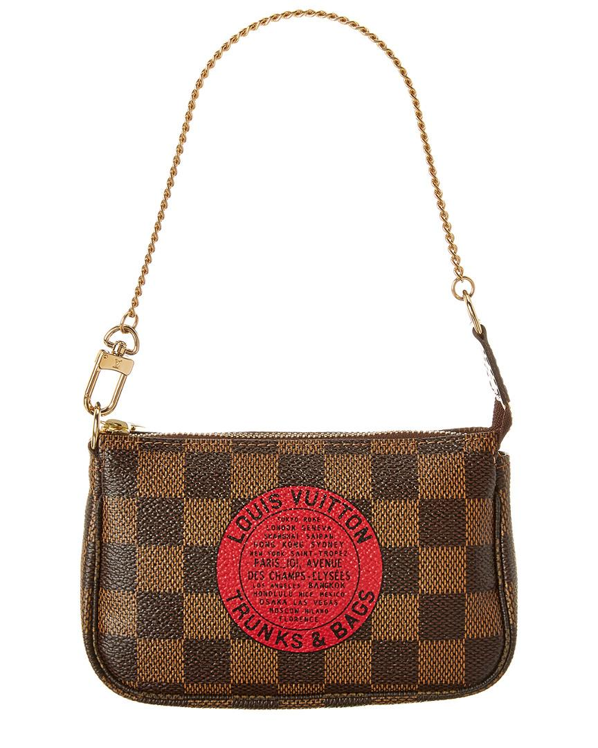 d0c4dfc27f4a Louis Vuitton. Women s Limited Edition Trunks   Bags Monogram Canvas Mini  Pochette Accessoires