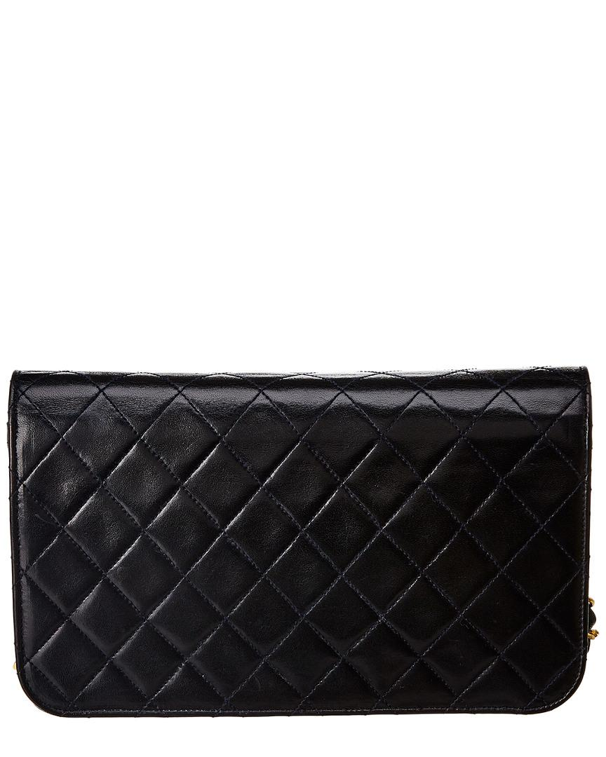 0a8ec0f7474c Lyst - Chanel Blue Quilted Lambskin Leather Chain Clutch in Black