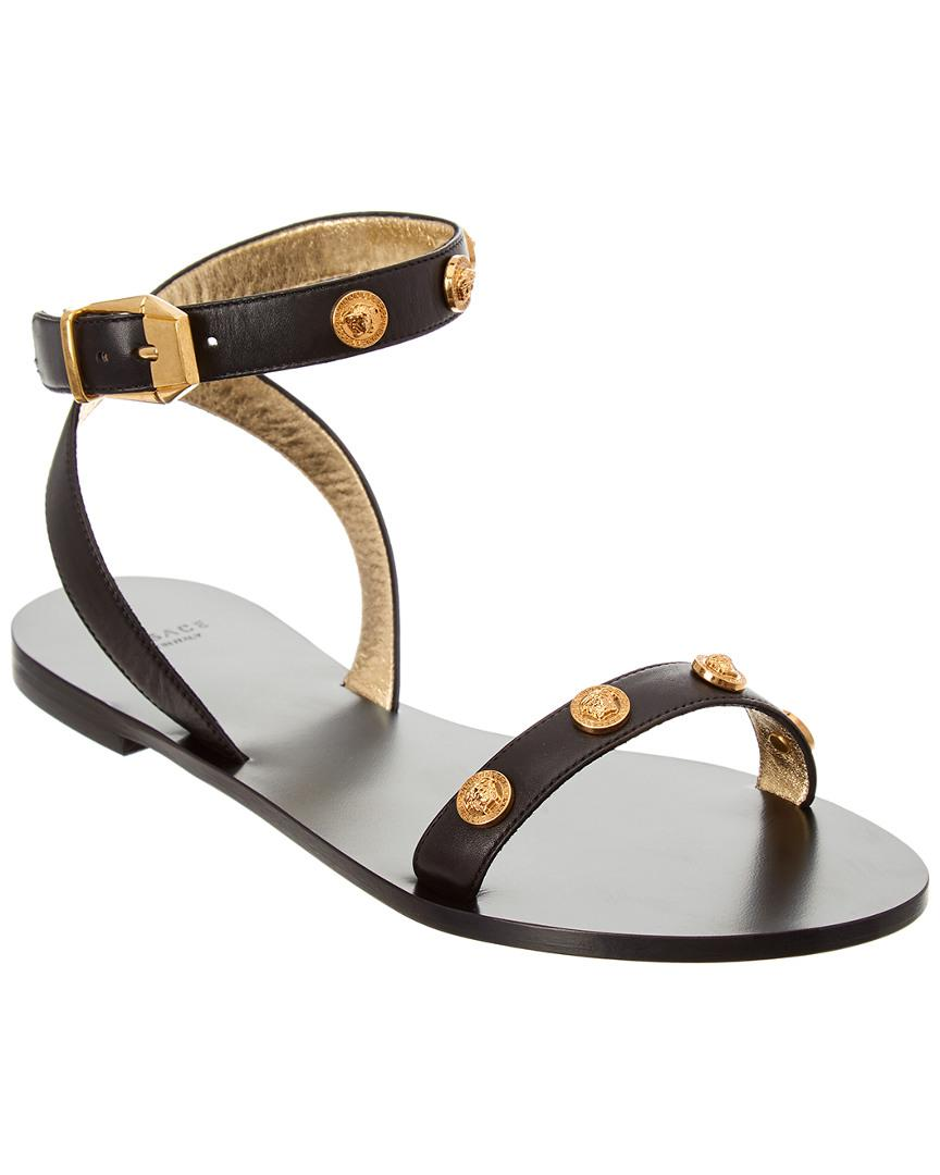 Black Tribute Coin Sandals Versace Free Shipping Ebay Discount Brand New Unisex Sale Exclusive Cheap Outlet Locations 5ARGV