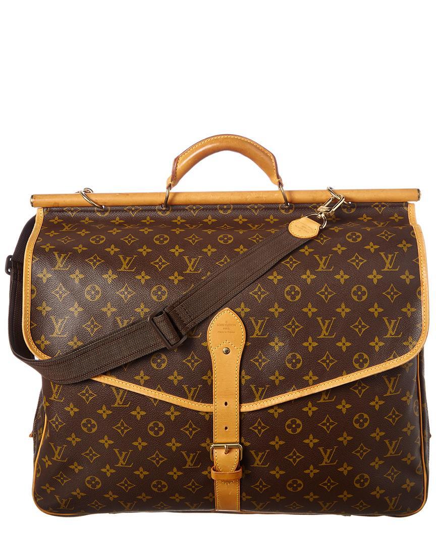 b979f80eead9 Lyst - Louis Vuitton Monogram Canvas Sac Chasse in Brown