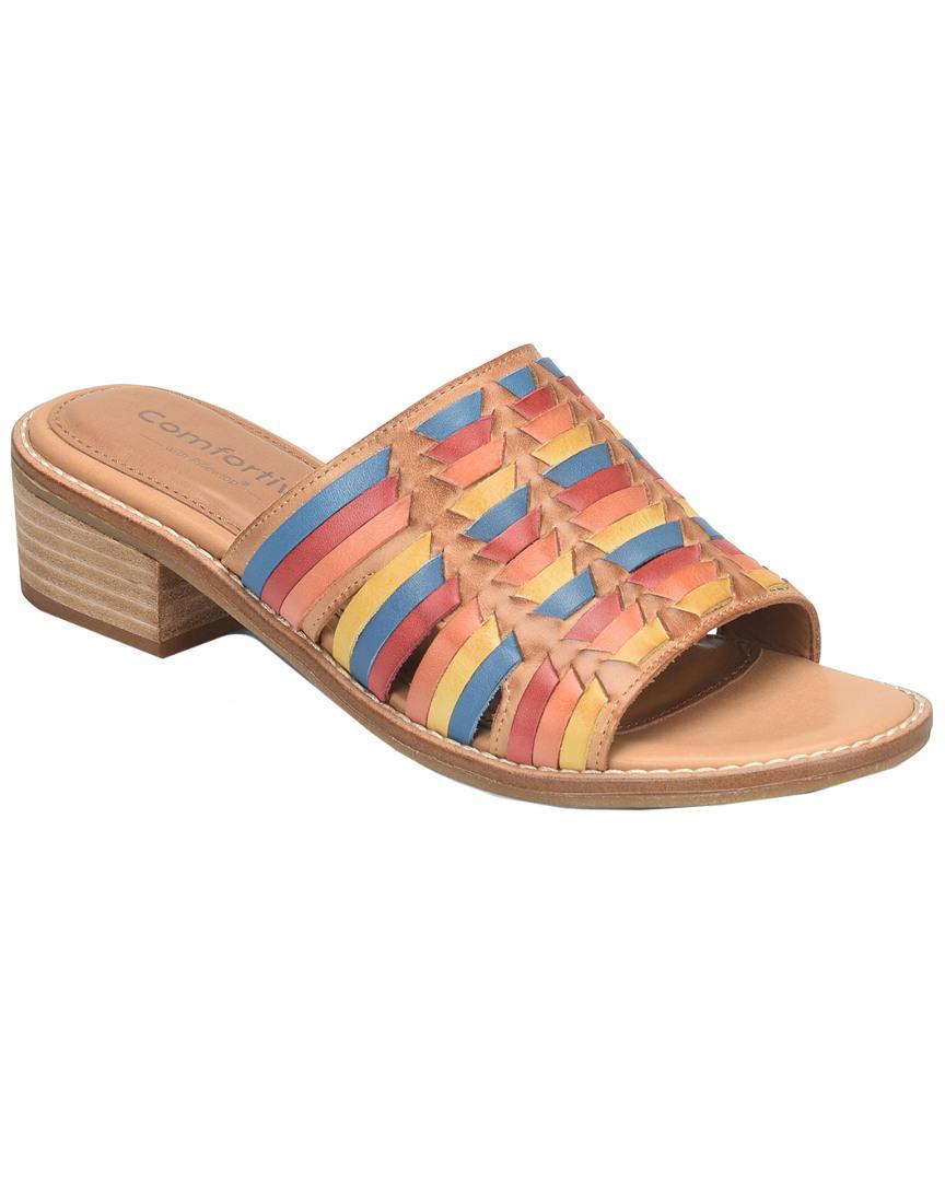 eeb4865496ae Comfortiva Brileigh Huarache Block Heel Slides - Save 57% - Lyst