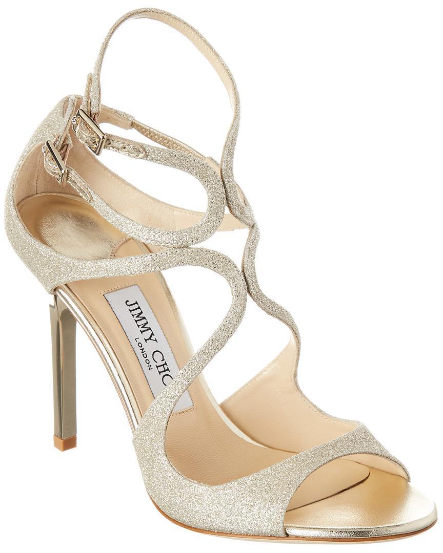 042a823cd67 Lyst - Jimmy Choo Lang 100 Glitter Sandal in Metallic