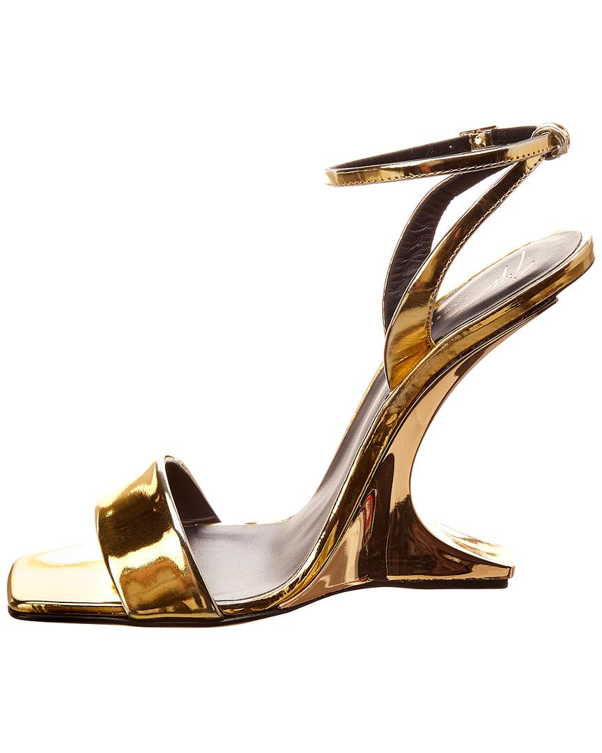 b9090172b Giuseppe Zanotti Picard Leather Sandal in Metallic - Lyst