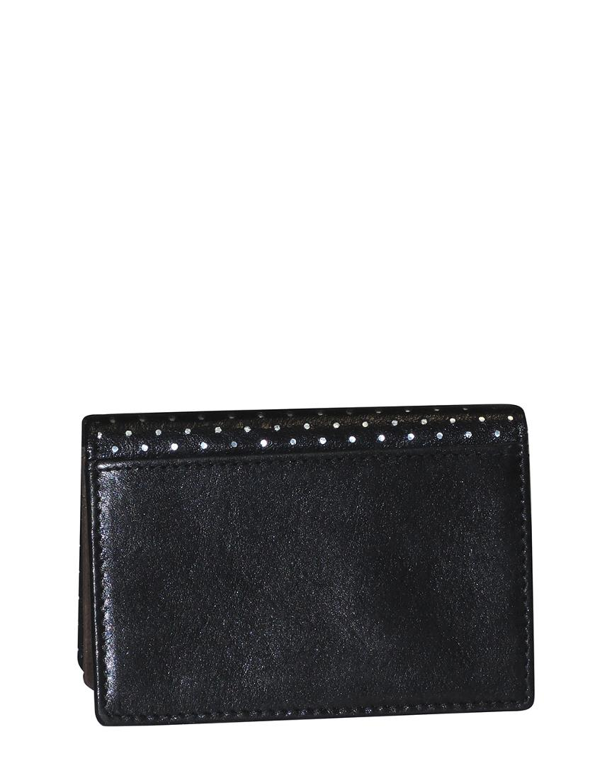 Lyst - Dopp Buxton Alpha Rfid Leather Business Card Case in Black ...