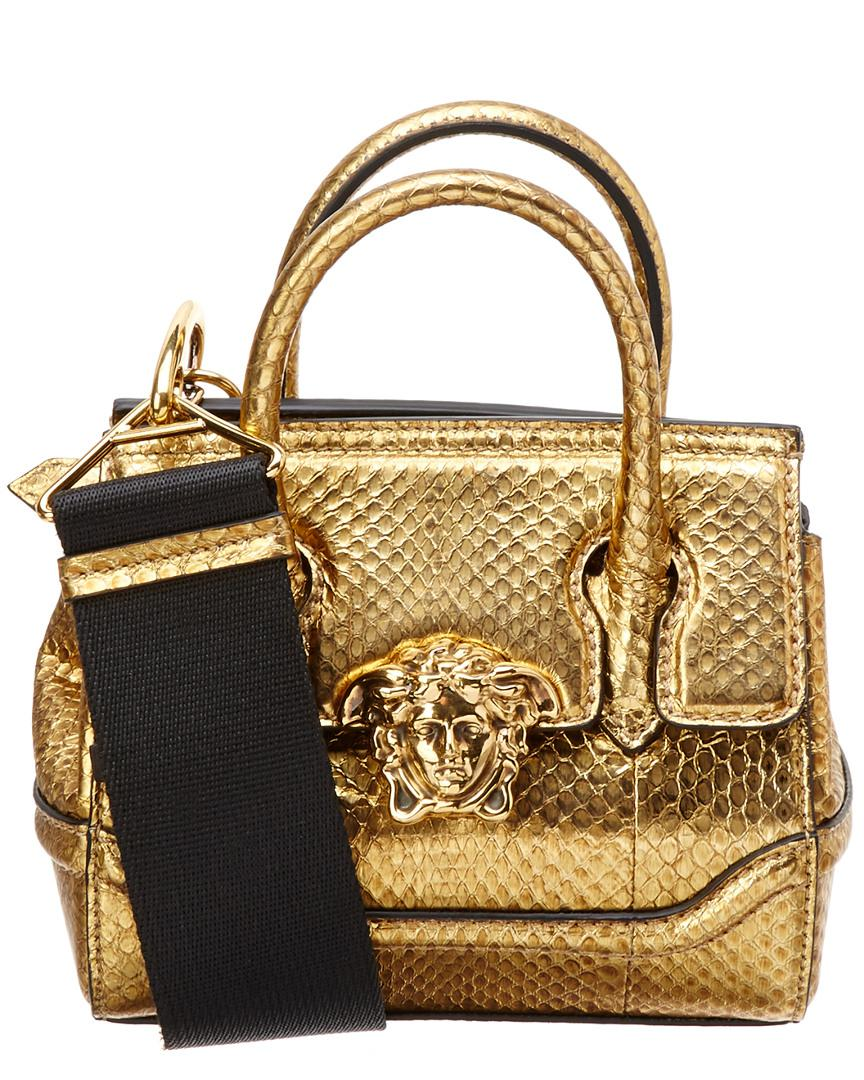 f1eb76318c Lyst - Versace Palazzo Empire Leather Shoulder Bag in Metallic