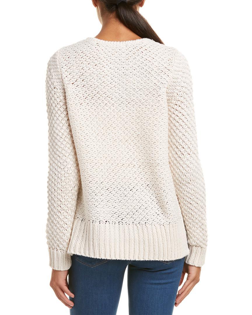 Duffy - White Texture Stitch Wool-blend Sweater - Lyst. View fullscreen