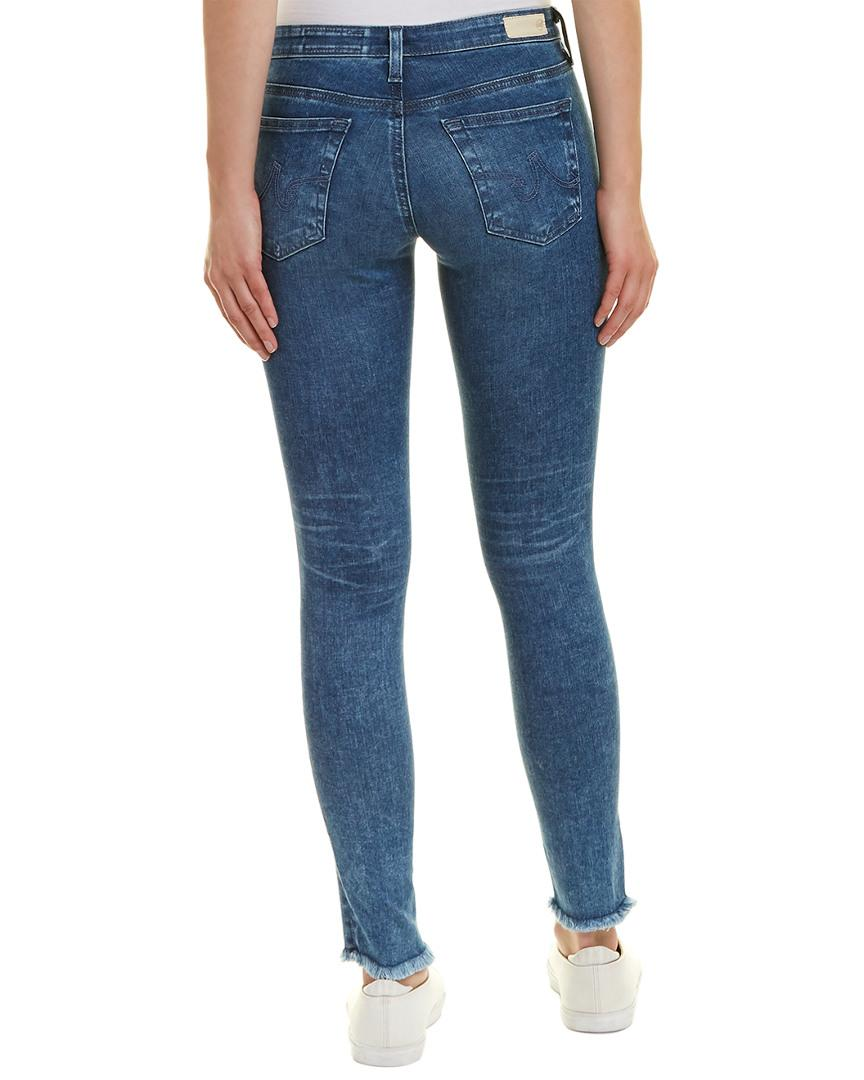 73cb489adecbd Lyst - AG Jeans The Legging 14 Years Suspended Super Skinny Ankle Cut in  Blue - Save 18%