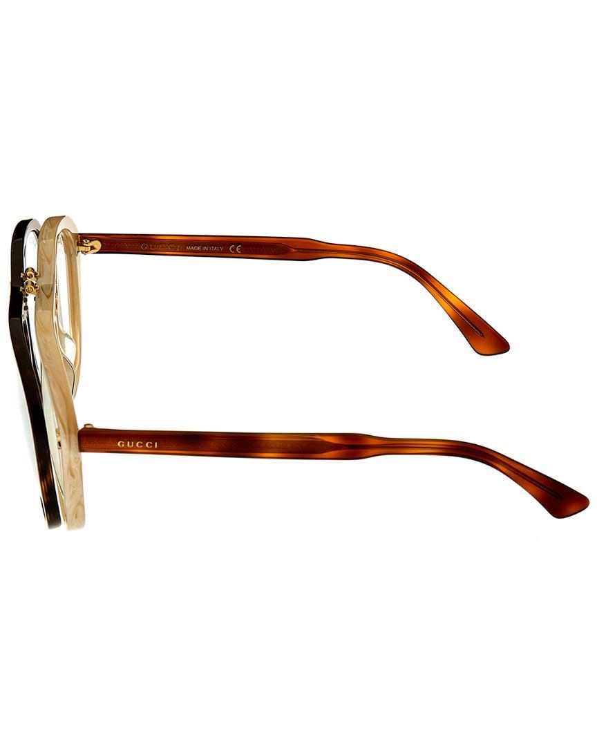 782e4073cd8 Lyst - Gucci Geometric 56mm Sunglasses in Brown for Men - Save 14%