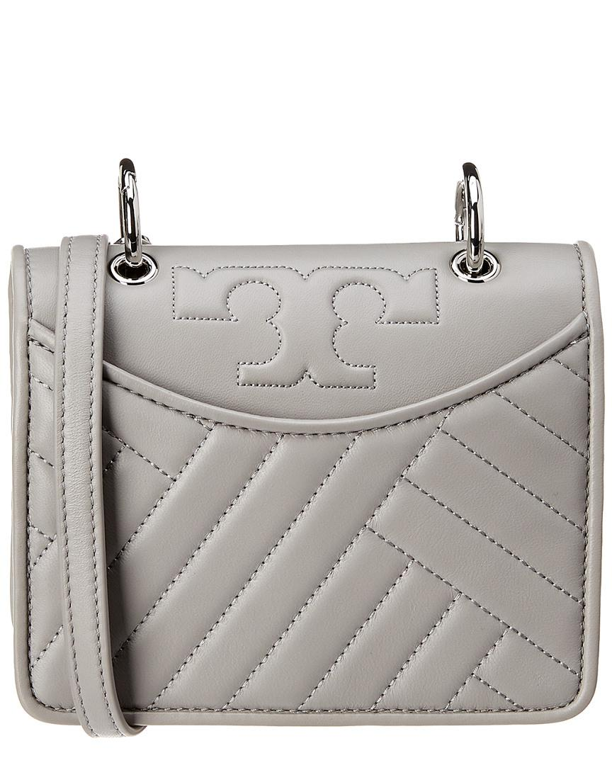 c5695d25022 Lyst - Tory Burch Mini Convertible Leather Shoulder Bag in Gray