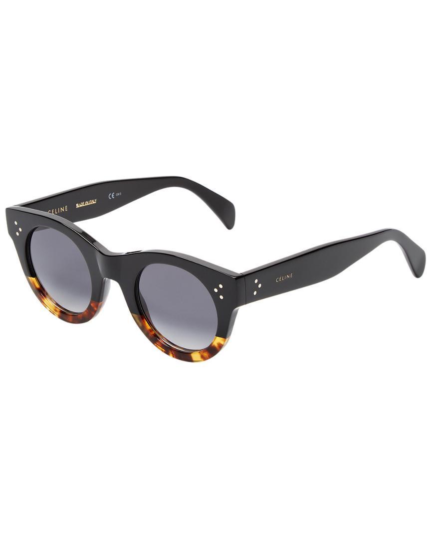 59ecf3066695 Lyst - Céline Cl 41425 s 44mm Polarized Sunglasses in Black
