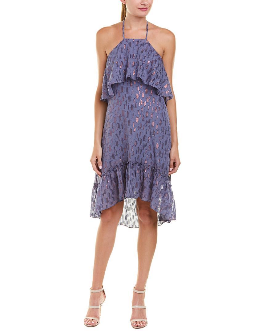 Lyst - Ella Moss Tiered Silk-blend Shift Dress in Blue a42ecfcb9