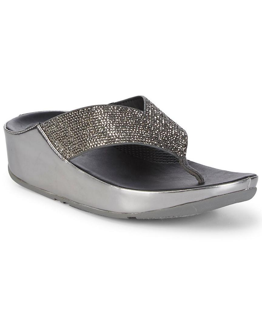 b6c72f2df5e1 Fitflop Crystall Sandal in Metallic - Lyst