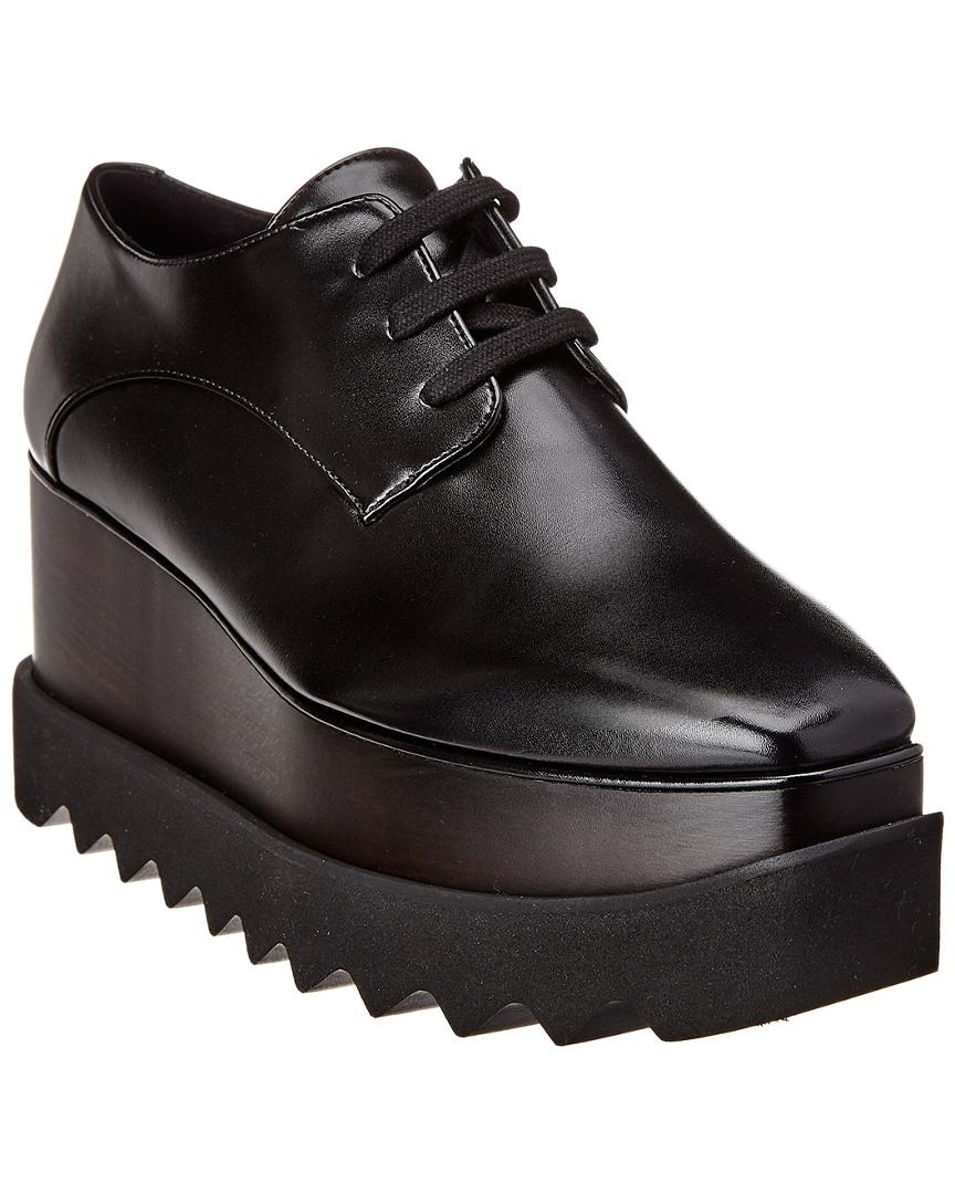 e67cc9cf678 Lyst - Stella McCartney Elyse All Black Platform Loafer in Black