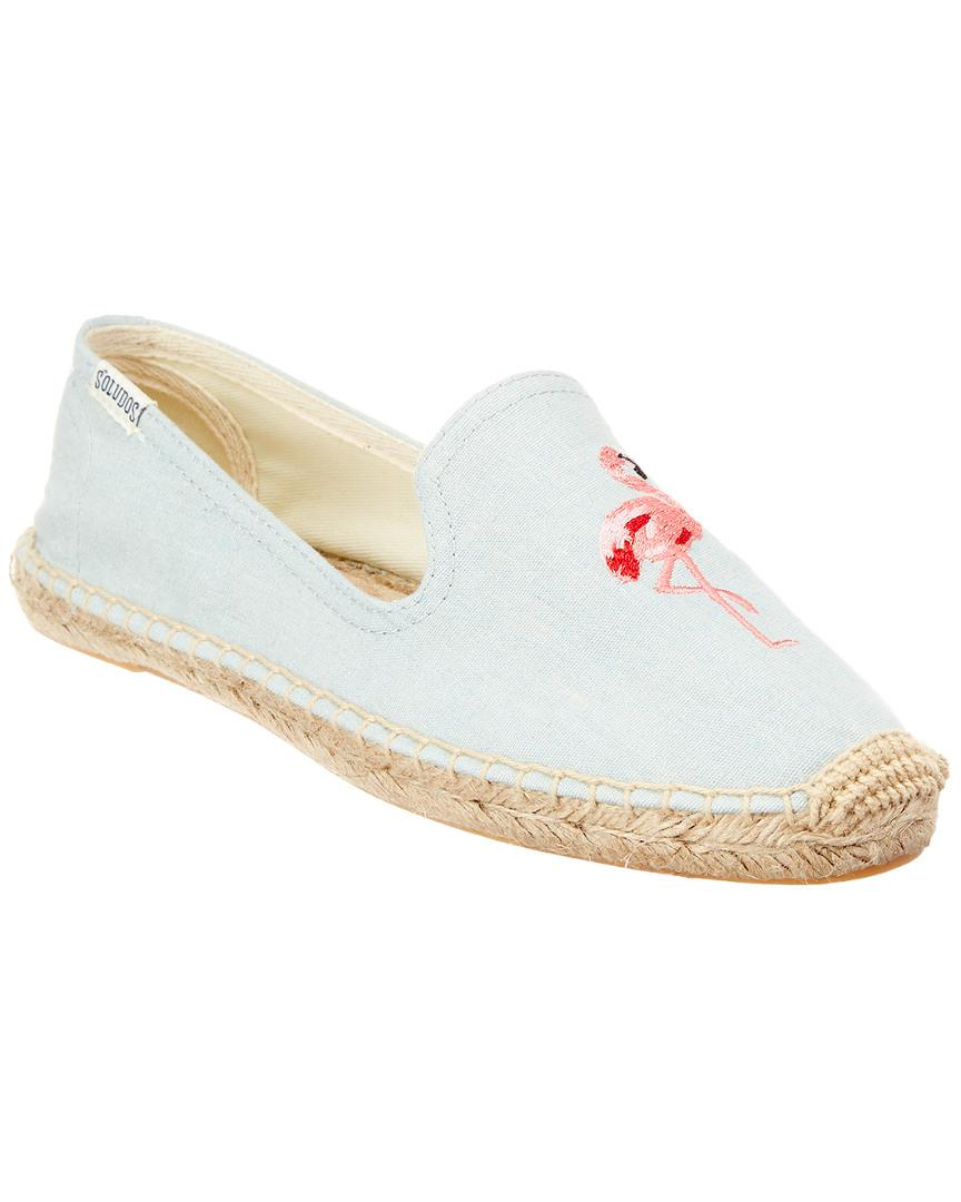 122a7ed86 Lyst - Soludos Embroidered Smoking Espadrille in Blue