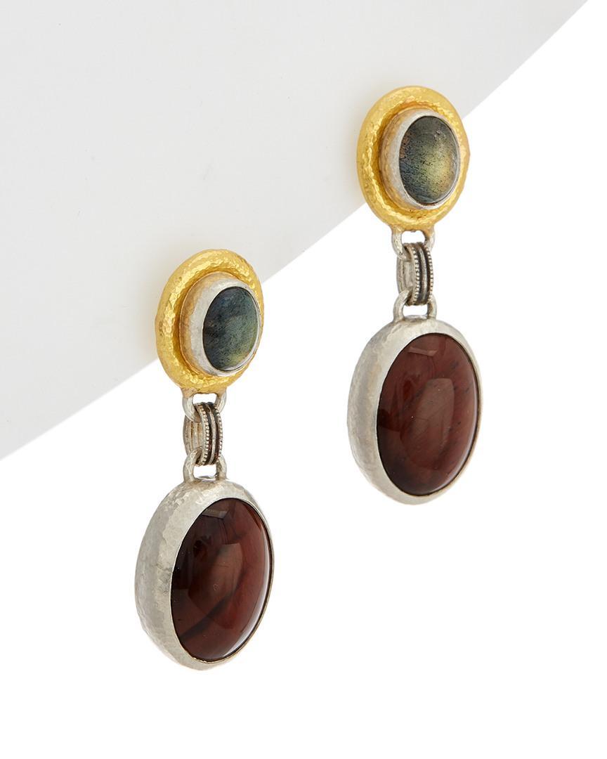 Gurhan 24k One-of-a-Kind Opal & Diamond Stud Earrings MrAZO9tyL