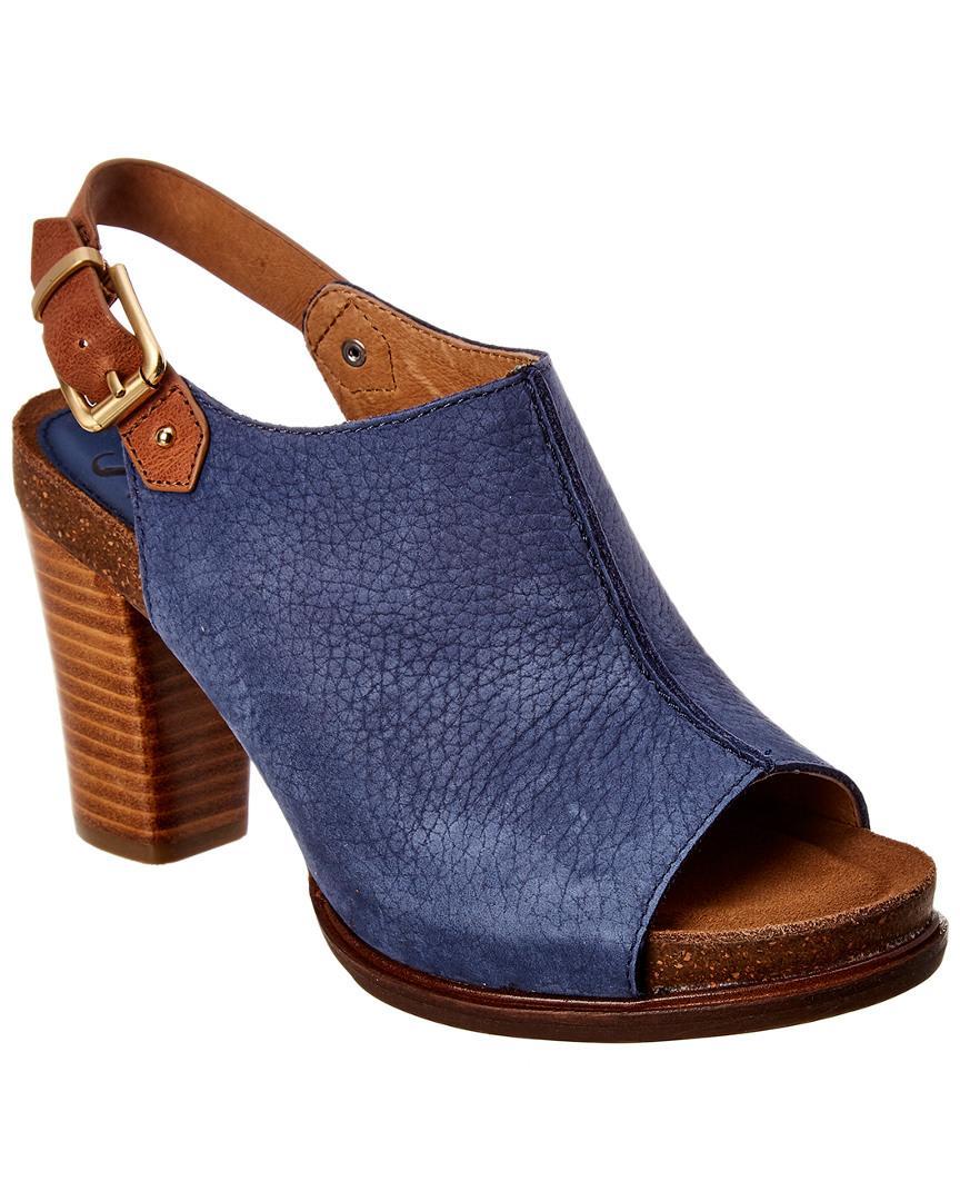 d5a7faeb662 Lyst - Söfft Cidra Heeled Suede Sandal in Blue