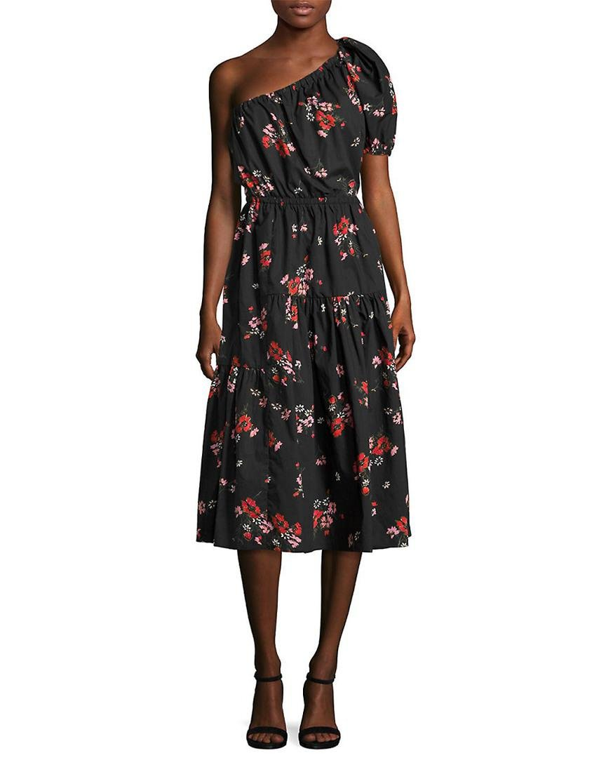 3a8dd3ba921e85 Lyst - Rebecca Taylor Floral Knee-length Dress in Black - Save 50%