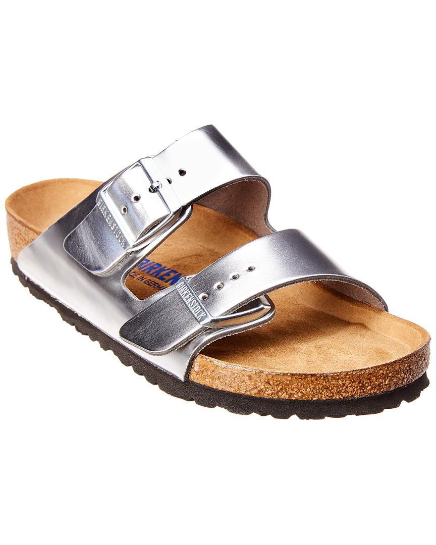 8c05a6867d74 Birkenstock - Metallic Arizona Soft Footbed Leather Sandal - Lyst. View  fullscreen