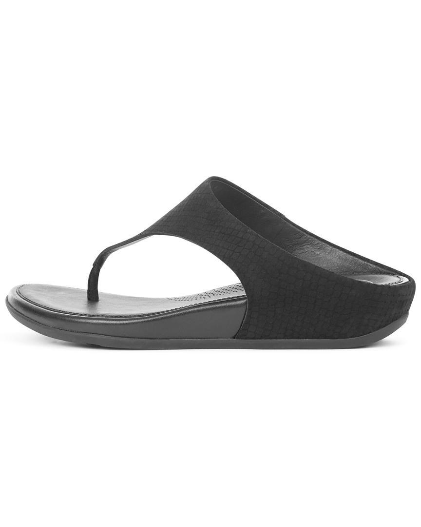 65e238fdd Fitflop Banda Toe Snake Thong Sandal in Black - Lyst