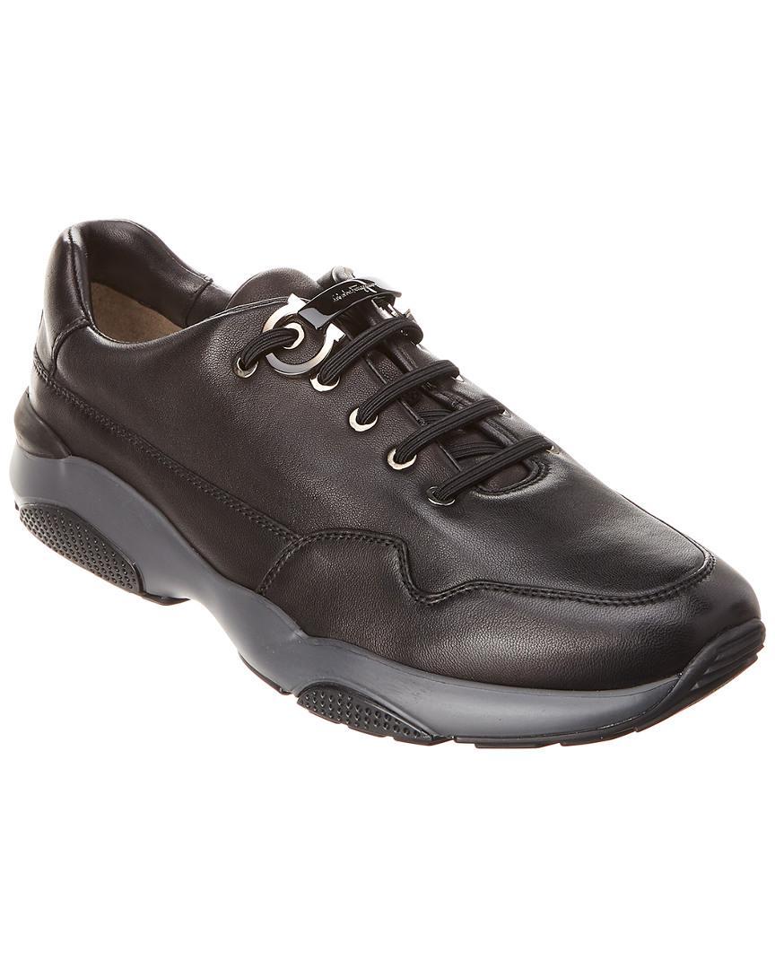 e004688e4eac5 Ferragamo Flushing Leather Sneaker in Black for Men - Save ...