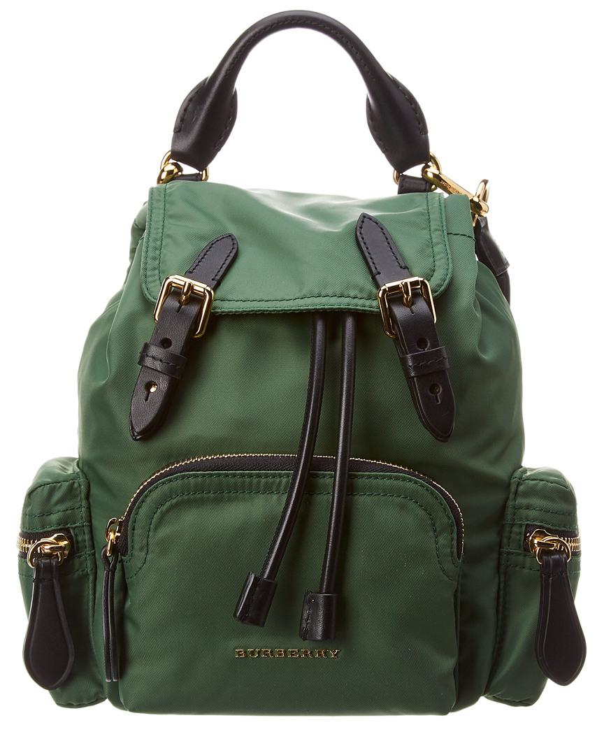 eab34f6c01 Lyst - Burberry Small Nylon   Leather Crossbody Rucksack in Green