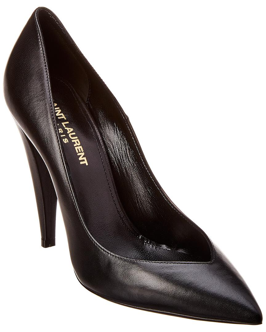 514d85bab646 Lyst - Saint Laurent Era 110 Leather Pump in Black