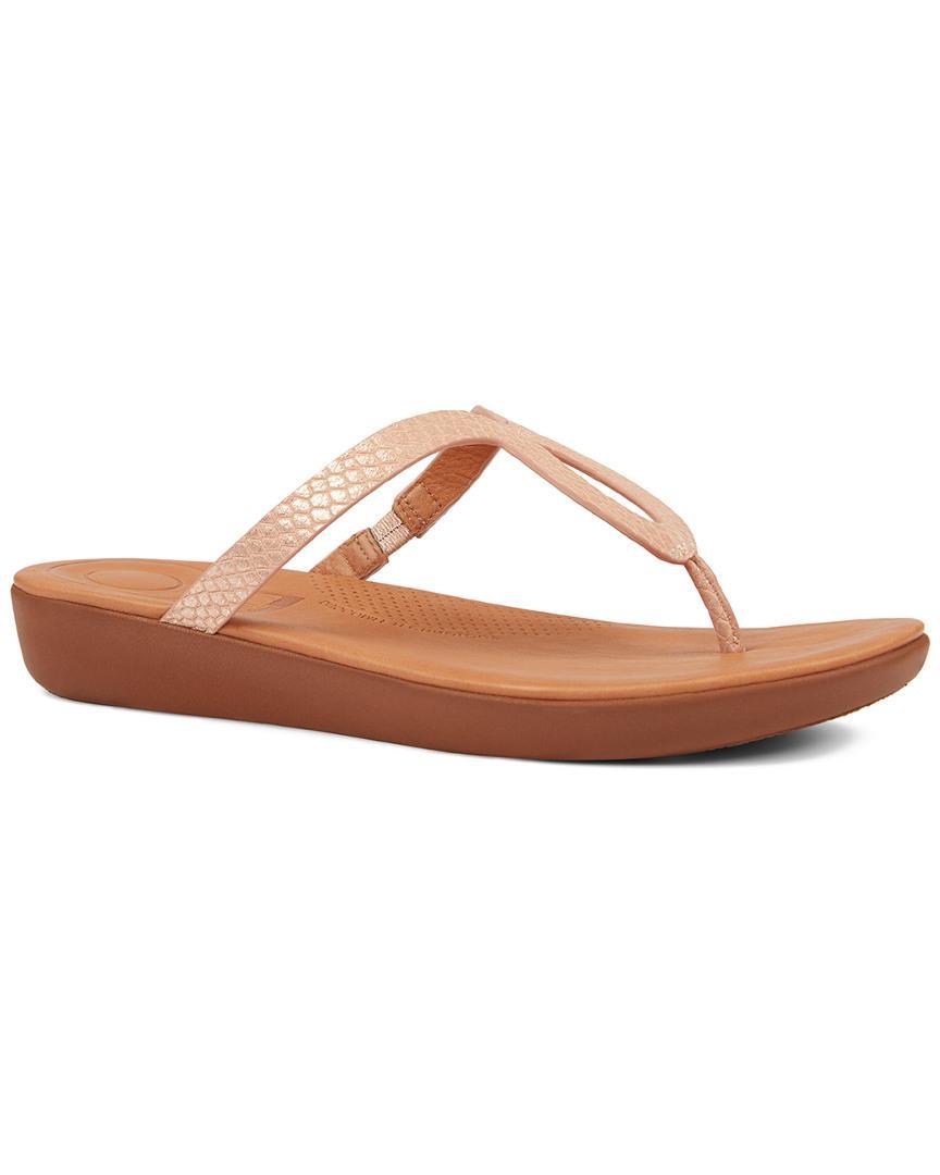 6604379ea Lyst fitflop strata shimmersnake leather sandal jpg 864x1080 Leather slide  lyst lfl sandal nitro