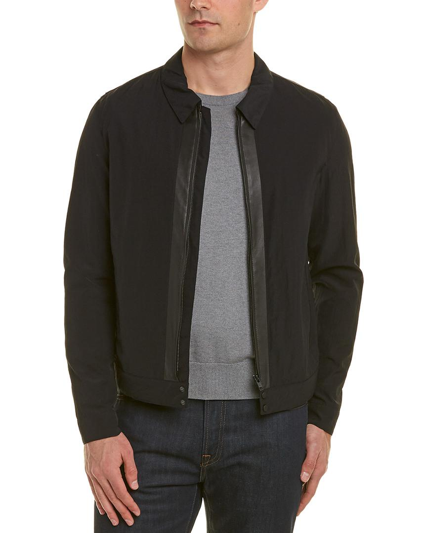 31df400ee94 Lyst - The Kooples Leather-trim Bomber Jacket in Blue for Men - Save 1%