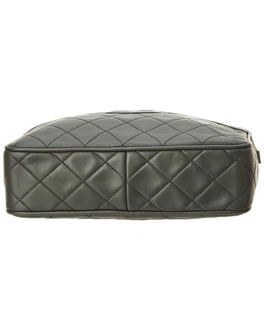 1530e6c5dc2 Lyst - Chanel Grey Quilted Lambskin Medium Camera Bag in Gray