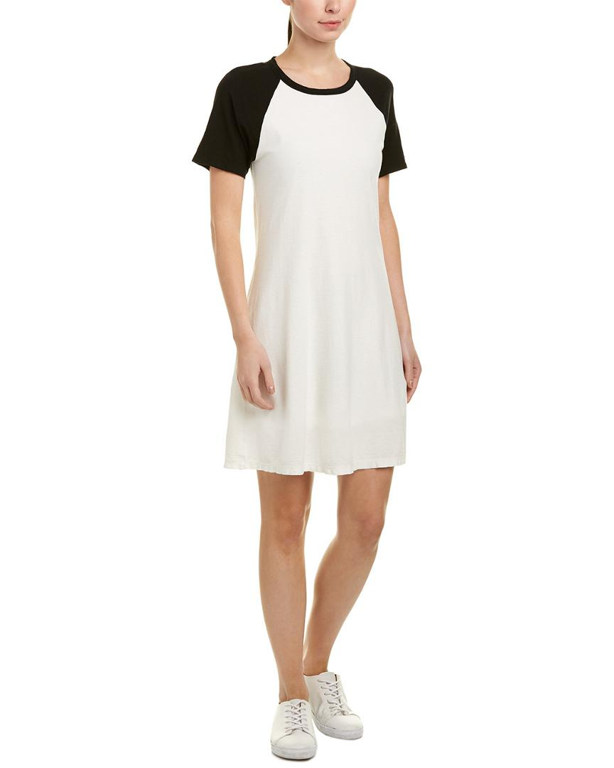 7b8e769e5f7 Lyst - James Perse Baseball Linen-blend Shift Dress in White - Save 50%
